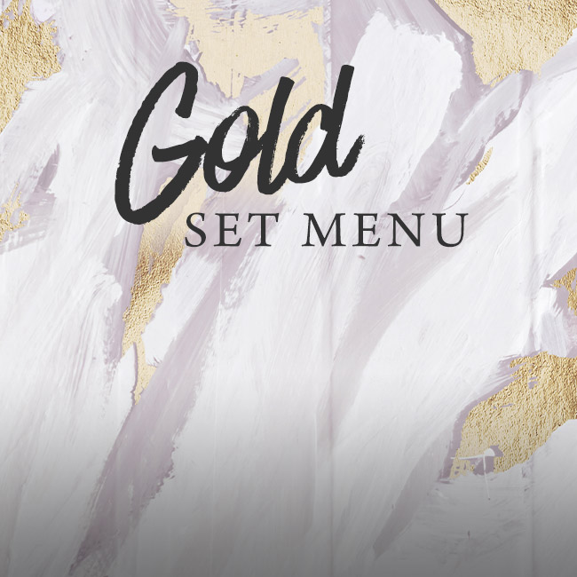 Gold set menu at The Horseshoes