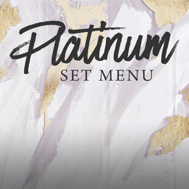 Platinum set menu at The Horseshoes